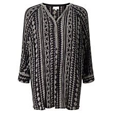 Buy East Aztec Print Blouse, Black Online at johnlewis.com