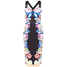 Buy Ted Baker Deony Tapestry Flora Buckle Dress, Black Online at johnlewis.com