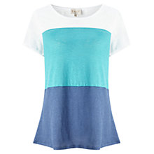 Buy East Colour Block Top, Blue Online at johnlewis.com