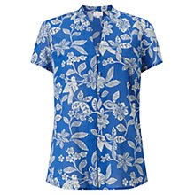 Buy East Mahika Print Blouse, Cobalt Online at johnlewis.com