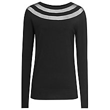 Buy Reiss Carla Sheer Detail Jumper, Black Online at johnlewis.com