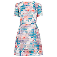 Buy Oasis Digital Organza Skater Dress, Multi Natural Online at johnlewis.com