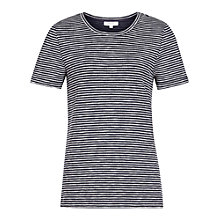 Buy Reiss Maria Crew Neck Stripe T-Shirt, Night Navy/Off White Online at johnlewis.com