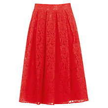 Buy Oasis Lace Midi Skirt, Mid Orange Online at johnlewis.com