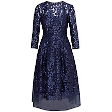 Buy Ted Baker Balini Embroidered Domed Skirt Dress, Dark Blue Online at johnlewis.com
