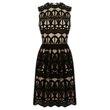 Buy Oasis Deco Lace Dress, Black Online at johnlewis.com