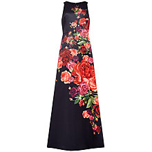 Buy Ted Baker Marico Juxtapose Rose Dress, Black Online at johnlewis.com
