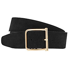 Buy Reiss Otis Wide Suede Belt, Black Online at johnlewis.com