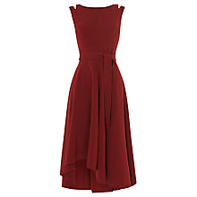Buy Karen Millen Crepe Midi Dress, Burgundy Online at johnlewis.com