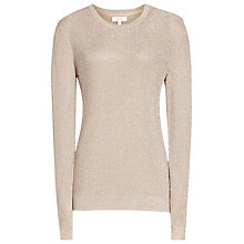 Buy Reiss Vivienne Metallic Jumper, Metallic Online at johnlewis.com