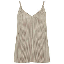 Buy Warehouse Twist Plisse Top Online at johnlewis.com
