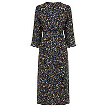 Buy Warehouse Ditsy Floral Print Midi Dress, Multi Online at johnlewis.com
