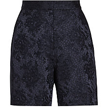 Buy Reiss Kate Jacquard Shorts, Night Navy Online at johnlewis.com
