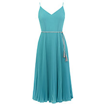 Buy Oasis Pleated Cami Midi Dress, Teal Green Online at johnlewis.com