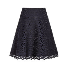 Buy Reiss Lace Short A Line Skirt, Night Navy Online at johnlewis.com
