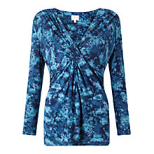 Buy East Marie Twist Front Top, Teal Online at johnlewis.com