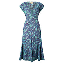 Buy East Anokhi Anatolia Dress, Teal Online at johnlewis.com