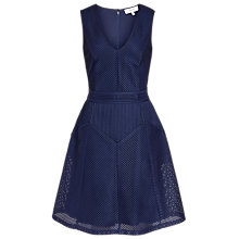 Buy Reiss Textured Jersey Dress, Royal Blue Online at johnlewis.com