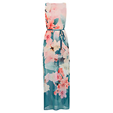 Buy Oasis Digital Floral Maxi Dress, Teal Green Online at johnlewis.com