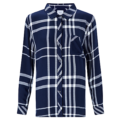 Rails Hunter Check Shirt, Cadet/White