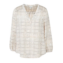 Buy Joie Axel Silk Blouse, Sandshell Online at johnlewis.com