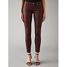 Buy AG The Sateen Legging Ankle Jeans, Wine Online at johnlewis.com