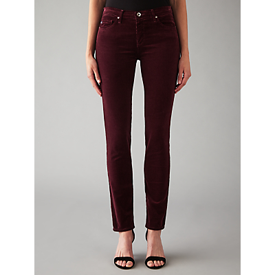 AG The Corduroy Prima Skinny Jeans, Cord Wine