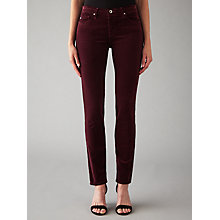 Buy AG The Corduroy Prima Skinny Jeans, Cord Wine Online at johnlewis.com