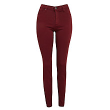 Buy AG The Prima Skinny Jeans, Plum Wine Online at johnlewis.com