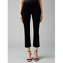 Buy AG The Jodie Crop Leatherette Slim Flared Jeans, Black Online at johnlewis.com