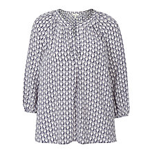 Buy Joie Addie B Silk Blouse, Dark Navy Online at johnlewis.com
