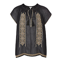 Buy Joie Lomax Embroidered Top, Caviar Online at johnlewis.com