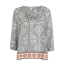 Buy Joie Cherree Top, Stone Grey With Sunset Online at johnlewis.com