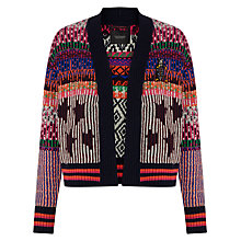 Buy Maison Scotch Jacquard And Detail Cardigan, Multi Online at johnlewis.com