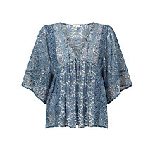 Buy Joie Scorpio Silk Blouse, Faded Sky Online at johnlewis.com