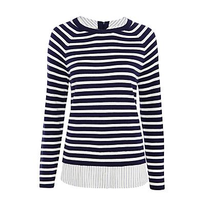 Joie Zaan E Layered Stripe Jumper, Dark Navy/Cream
