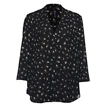 Buy NYDJ Dandelion Print Blouse, Black Online at johnlewis.com