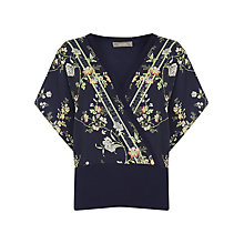 Buy Oasis Shaskio Woven Mix Top, Multi/Blue Online at johnlewis.com