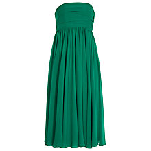Buy Reiss Athena Strapless Dress, Emerald Green Online at johnlewis.com