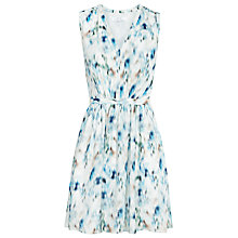 Buy Reiss Frida Printed V-Neck Dress, Royal Blue/Neutral Online at johnlewis.com