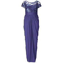 Buy Adrianna Papell Plus Size Embroidered Sequin Bodice Dress, Blue/Purple Online at johnlewis.com