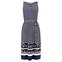 Buy Oasis Stripe Print Midi Dress, Multi/Blue Online at johnlewis.com