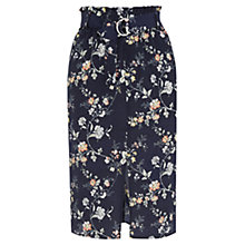 Buy Oasis Sashiko Paperbag Skirt, Multi/Blue Online at johnlewis.com