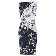 Buy Oasis Sashiko Pencil Dress, Multi Blue Online at johnlewis.com