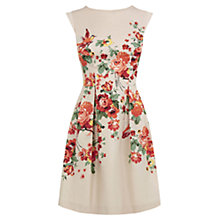 Buy Oasis Rose Placement Skater Dress, Multi Online at johnlewis.com