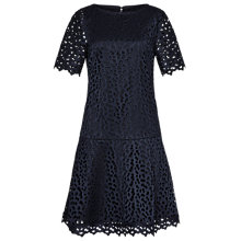 Buy Reiss Mae Dropped Waist Dress, Night Navy Online at johnlewis.com