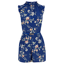 Buy Oasis Sashiko Floral Playsuit Online at johnlewis.com