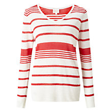 Buy East V-Neck Linen Jumper, Red Online at johnlewis.com