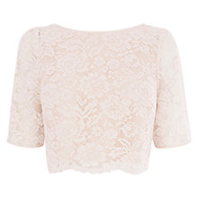 Buy Coast Manon Lace Top, Blush Online at johnlewis.com
