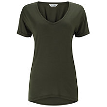 Buy Miss Selfridge Longline V-Neck T-shirt Online at johnlewis.com